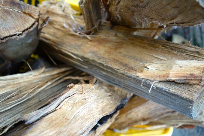 火を焚くための薪