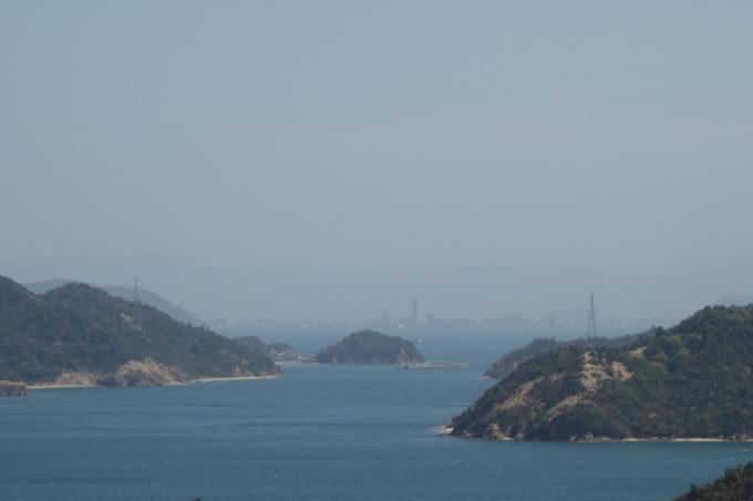 山頂から見る高松