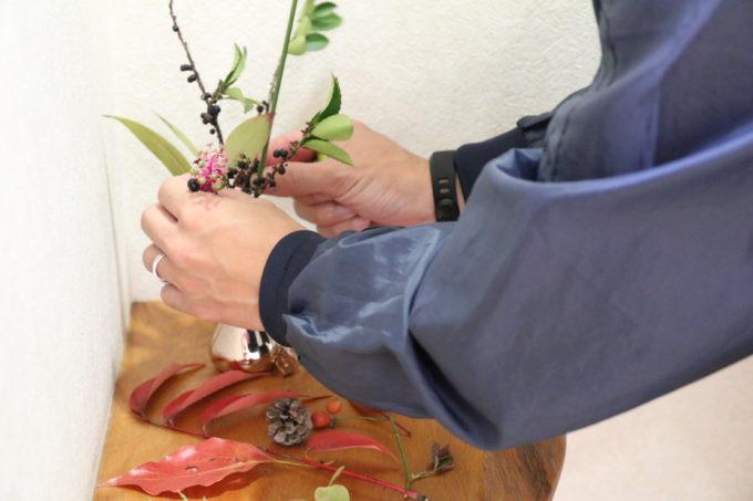 花瓶にさす秋の恵